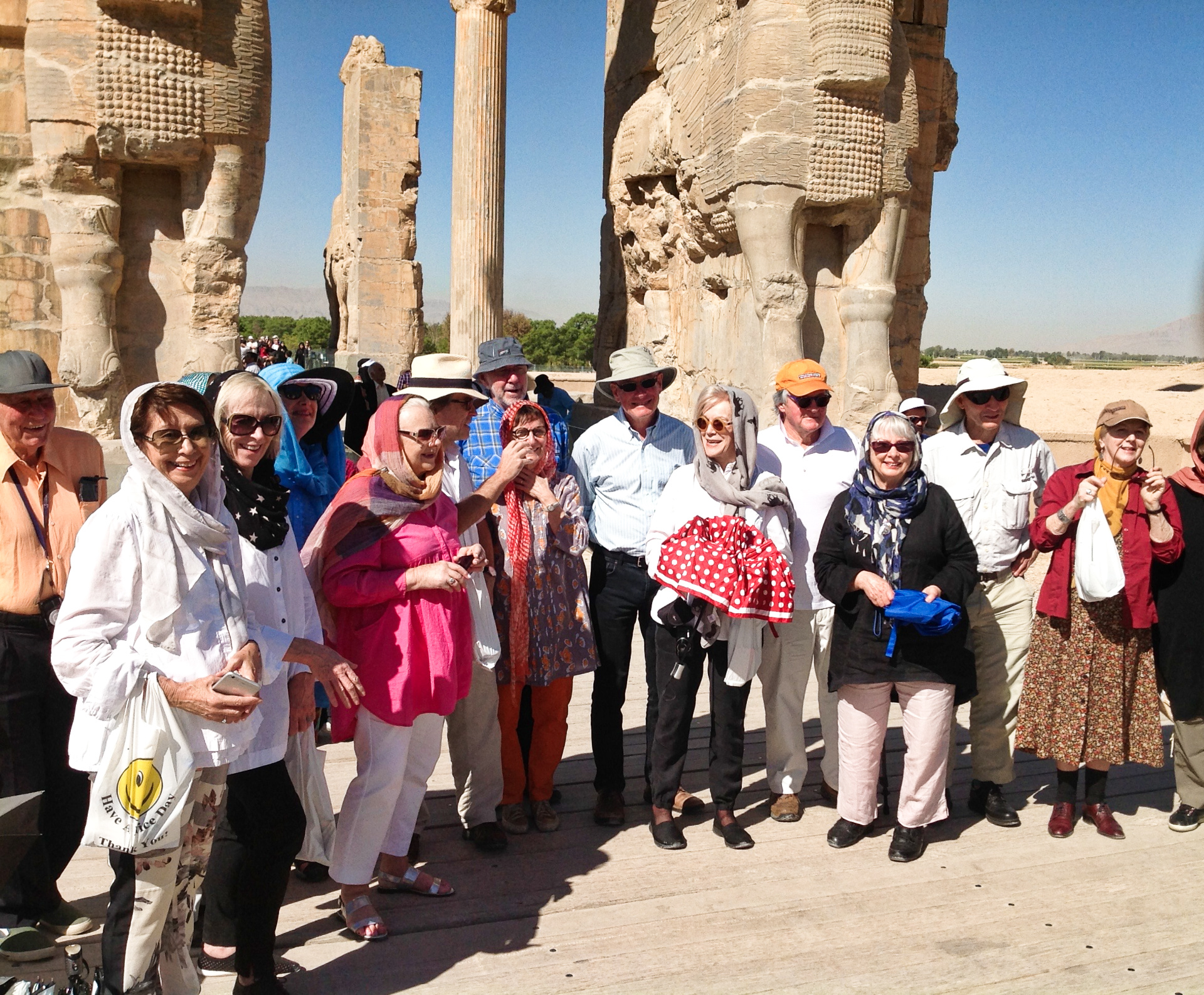 Happy-tour-members-Gate-of-all-nations-persepolis